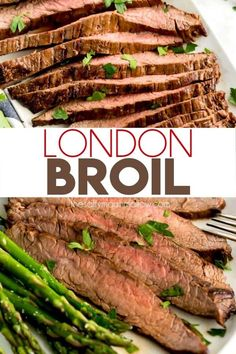 London Broil marinated and pan seared to tender and juicy perfection. This budget friendly London Broil recipe is easy to make and mouthwatering delicious! Steak Recipes, Cooking Recipes, Healthy Recipes, Grilling Recipes, Delicious Recipes, London Broil Recipes, Drink Recipe Book, Marinated Flank Steak, How To Cook Steak