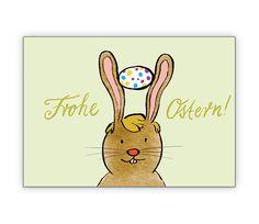 Osterkarte mit süßem Osterhasen - http://www.1agrusskarten.de/shop/osterkarte-mit-susem-osterhasen/    00024_0_2733, Eier, Grusskarte, Hase Osterkarte, Huhn, Klappkarte, Osterhase zum Osterfest, Osterkarten00024_0_2733, Eier, Grusskarte, Hase Osterkarte, Huhn, Klappkarte, Osterhase zum Osterfest, Osterkarten