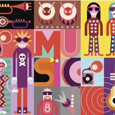 Find Musical Collage Pop Art Vector Illustration stock images in HD and millions of other royalty-free stock photos, illustrations and vectors in the Shutterstock collection. Foto Pop Art, Video Nature, Pop Art Collage, Royalty Free Music, Art Icon, Festival Posters, Graphic Design Posters, Andy Warhol, Art Design