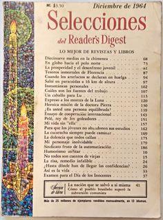 """DECEMBER 1964 """"Selecciones del Reader's Digest"""" - NORTH POLE - FLORENCE"""