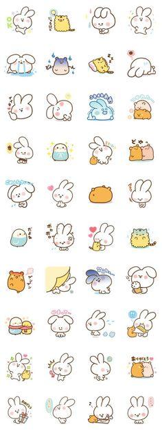 Kawaii rabbit for doodle time! Kawaii Drawings, Doodle Drawings, Doodle Art, Cute Drawings, Kawaii Doodles, Cute Doodles, Kawaii Shop, Kawaii Art, Kawaii Stickers