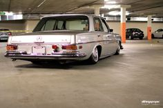 """Jimmy's Bagged Mercedes Benz 280se. """"After months of searching and looking at a few classic Mercedes Benz's, I bought my first 1972 Mercedes Benz 280SE in March 2010. I purchased …"""