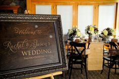 Wedding Welcome sign by Naturally Chic \ photo by f8 Photography.
