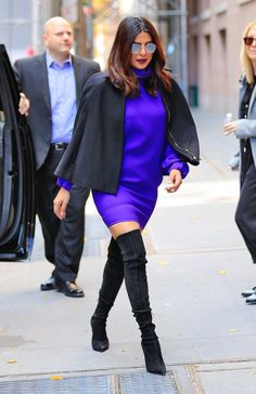 The Quantico star lifts her look before the weekend with this season's most-coveted footwear style.