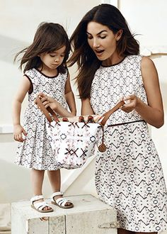 Mommy and Me Fashion / Matching Outfits Twin Outfits, Mommy And Me Outfits, Matching Outfits, Mother Daughter Fashion, Mom Daughter, Daughters, Young Fashion, Kids Fashion, Mom Style