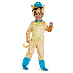 Octoanuts Kwazii Cat Classic Toddler Costume, Toddler Boy's