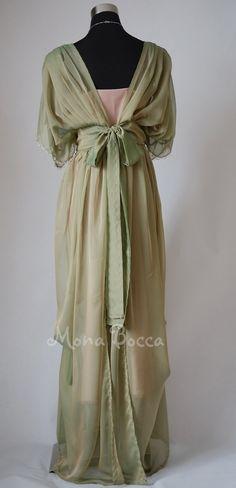 Edwardian plus size dress handmade in England Lady by MonaBocca