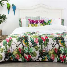 Happy Friday Tropic Double Duvet Cover