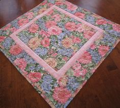 Quilted Table Toppers, Quilted Table Runners, Pink And Blue Flowers, Happy St Patricks Day, Black Quilt, Quilt Sets, Spring Time, Decorating Your Home, Greenery
