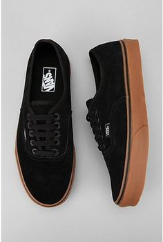 mens vans black gum
