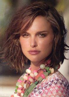 Natalie Portman short layered bob