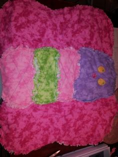 Baby butterfly rag quilt