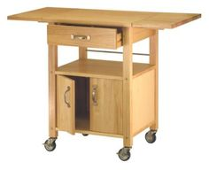 $162 on Amazon.com: Winsome Wood Drop-Leaf Kitchen Cart: Furniture & Decor