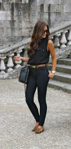 Black with brown belt