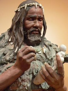 Sculpture of Cro-Magnon Man whose skeleton was found in 1868 at Les Eyzies France by mharrsch, via Flickr