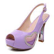 Leatherette Women's Spool Heel Peep Toe Sanda... – USD $ 34.99
