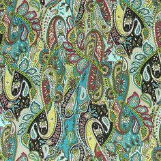 Satin Paisley Mandu 2 kangastori.com:sta
