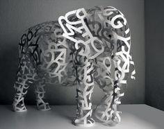 Elephant Sculpture by Márton Jancsó, via Behance