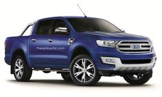 2015 #Ford #Ranger - Starting to look like the Ford Taurus now.