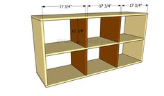 How to build a basic book case. I leave an open back and skip the wheels to give horizontal and vertical options.