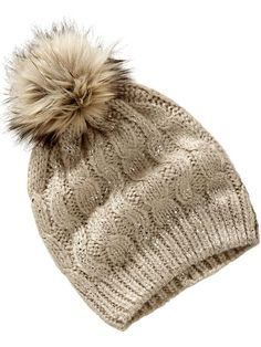 Old Navy Womens Cable Knit Hats Size One Size - Neutral by: Old Navy @Old Navy (US)