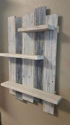 If you are looking for Diy Pallet Wall Art Ideas, You come to the right place. Here are the Diy Pallet Wall Art Ideas. This article about Diy Pallet Wall Art Ide. Rustic Wall Shelves, Wall Hanging Shelves, Wood Wall Shelf, Rustic Wall Decor, Rustic Walls, Wood Wall Art, Bathroom Shelves, Diy Hanging, Rustic Wood