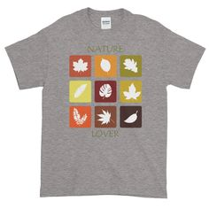 Nature Lover's Short-Sleeve T-Shirt. This t-shirt makes for a great staple! It has a classic fit (not form-fitting) with a thick cotton fabric. Gifts For Nature Lovers, Custom T, Graphic Shirts, Fabric Weights, Size Chart, Short Sleeves, Cotton, Mens Tops, T Shirt