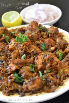 Pepper Chicken Chettinad Chicken   - ½ kg Oil                                 Mustard seeds               Cumin                         Cardamom                    Bay leaf                      Cinnamon                    Cloves                          Onion  2 Turmeric pwd                Ginger garlic paste         Green chilly                 Curry leaves                Tomato - 2 Red chilly pwd   - 1 tsp Coriander pwd    - 2 tsp Cumin pwd   - 1 tsp Pepper corns    - 2 tsp