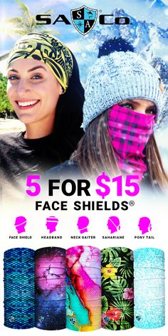 Designs and Ways to Wear. Protect Your Hair and Face from Sun, Cold, Dust, & Allergens. Made of UPF 40 Microfiber. All Face Shields come with a Lifetime Warranty! Join the SA Team Today! Easy Face Masks, Diy Face Mask, Cold Face, Face Wrap, Homemade Mask, Respirator Mask, Diy Mask, Your Hair, Hair Color