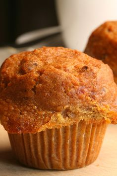 Healthy carrot muffins: I made these but added maybe cup milk.A great way to hide vegetables from your children … these simple carrot muffins will be a big hit in your child's lunchbox and for afternoon tea. Healthy Carrot Muffins, Carrot Cake Muffins, Healthy Muffin Recipes, Carrot Cakes, Zucchini Muffins, Blue Zones Recipes, Zone Recipes, Morning Glory Muffins, Breakfast Muffins