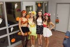 2013 DIY Halloween group costume! Winter, Spring, Summer and Fall! Four seasons!