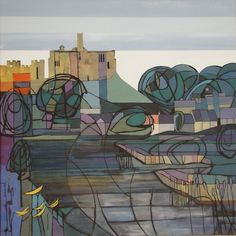Warkworth Castle (sold) by Judy Appleby  -  North of England art club