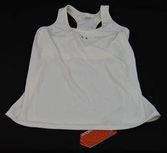 Under Armour XL Womens White Tank Top Sports Bra New With Tags  #UnderArmour #SportsBrasBraTops