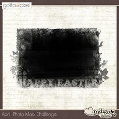FREE April Photomask by Indigo Designs digital scrapbooking freebie
