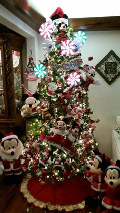 Mickey and Minnie Candy Christmas tree 2014!