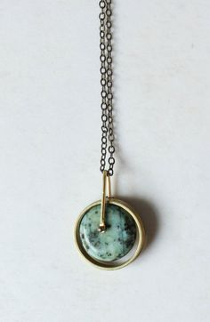 Turquoise necklace gold Turquoise pendant necklace,modern necklace,minimalist necklace,brass disc necklace,geometric necklace,Mens necklace pendant ,modern necklace ,modern jewelry,boho chic fashion,boho jewelry ,boho necklace,contemporary jewelry,contemporary necklace,geometric jewelry,minimal classic,minimal jewelry,simple jewelry,simple pendant,gift for boyfriend,urban jewelry,mens jewelry,architectural jewelry,circle necklace, #jewelrysimple #men'sjewelry