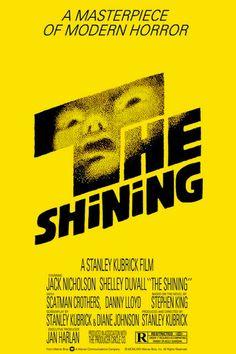 The Shining - one sheet poster - restrike - USA - Stanley Kubrick - Jack Nicholson - Saul Bass design Affiche The Shining, The Shining Film, The Shining Poster, Horror Movie Posters, Iconic Movie Posters, Iconic Movies, Horror Movies, Classic Movies, Greatest Movies