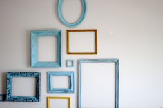Empty painted frames