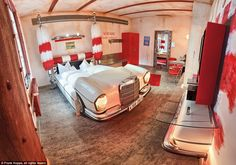 In a spin: A car wash-themed suite inside the V8 Hotel in Germany