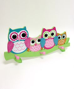Take a look at this Pink Four-Hook Wall Shelf by Concepts on #zulily today!