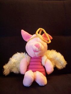 Vintage 1980's soft toy - Vintage Disney, Piglet from - Winnie The Pooh Bear - RARE. by BunkysVintageCrafts on Etsy