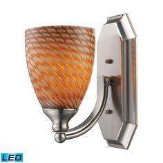 Elk Lighting 5701NCRLED Bath And Spa 1 Light LED Vanity In Satin