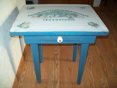 Vintage Enamel Top Kitchen Table | 1940s Childs Porcelain Enamel Top Table  Adorable!