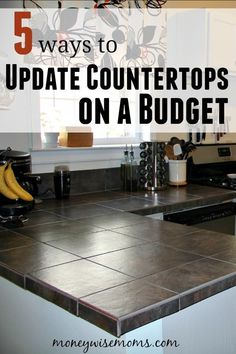 No need to bust your budget when modernizing your kitchen! Try these 5 strategies to update countertops on a budget and save money. diy home improvement 5 Ways to Update Countertops on a Budget Diy Kitchen Decor, Kitchen On A Budget, New Kitchen, Kitchen Ideas, Cheap Kitchen Makeover, Cheap Kitchen Remodel, Kitchen Facelift, Smart Kitchen, Kitchen Styling