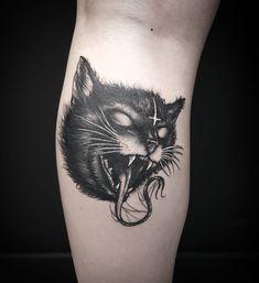 "584 curtidas, 9 comentários - Niko Nerdo (@niko_nerdo) no Instagram: ""Working on a new cat for monday, I love cats ❤ #darkartists #darkart #blackworkers…"" #cattattoo Black Cat Tattoos, Boy Tattoos, Couple Tattoos, Animal Tattoos, Hand Tattoos, Body Art Tattoos, Gothic Tattoo, Dark Tattoo, Tattoo You"