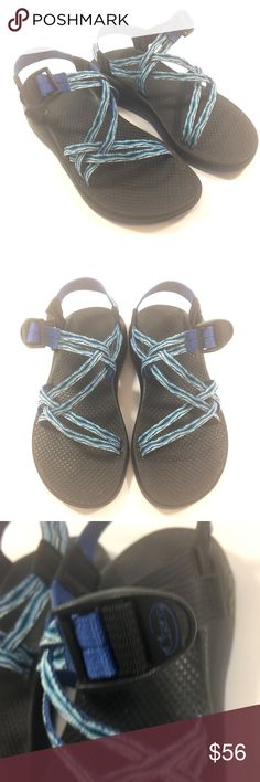 Chacos Sport Sandals Strappy Blue Multi Womens 7 Chacos Sport Sandals  Women's 7  Blue multi color Chacos Shoes Sandals