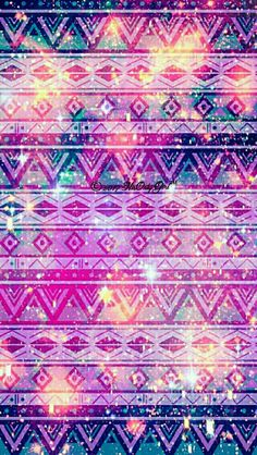Sweet tribal galaxy iPhone & Android wallpaper I created for the app CocoPPa!