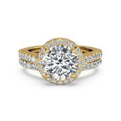 IGI Certified 1.50 Ct Diamond Engagement Ring Set Solid 18K Yellow Gold 6 7 8 9 #Handmade