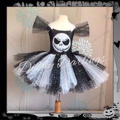 Sparkly Jack Skellington Tutu Dress Costume Halloween Nightmare Before Christmas #DiddyDarlings #CasualFormalParty