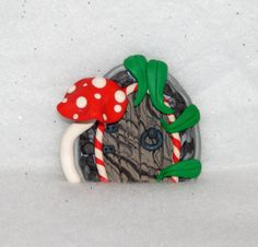 Fairy Door Ornament  polymer clay fairy door  by Wishcraft2013, £6.50